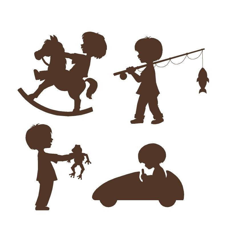 Silhouette Boys DIY Paint by Number Wall Mural by Elephants on the Wall - Seasonal Expressions