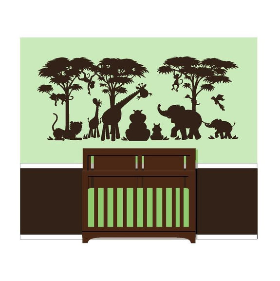 Silhouette Safari, a DIY Paint by Number Wall Mural by Elephants on the Wall - Seasonal Expressions - 5