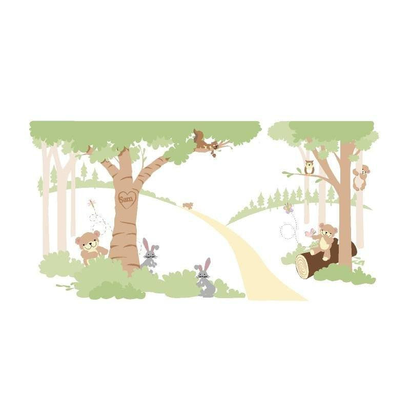 Teddy's Wooded Wonderland DIY Paint by Number Wall Mural by Elephants on the Wall - Seasonal Expressions - 1