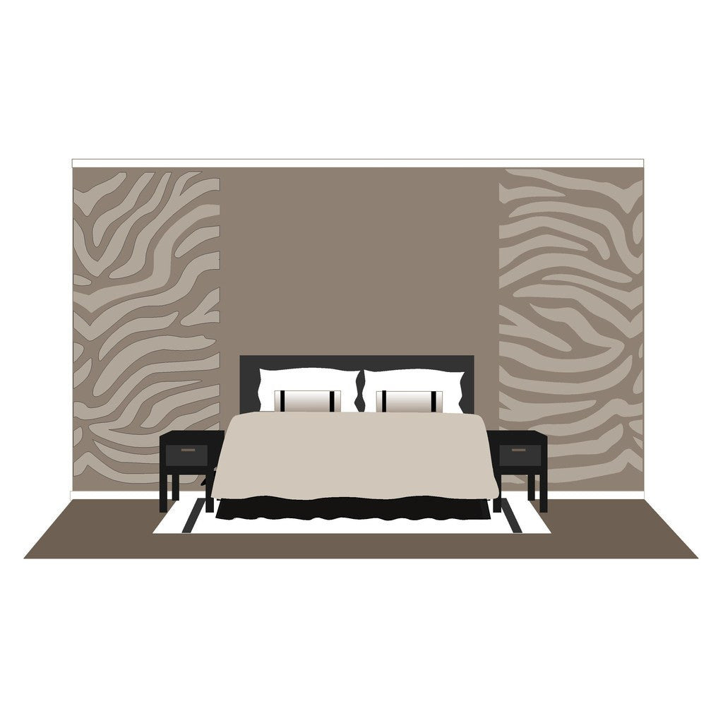 Zebra Stripes, a DIY Paint by Number Wall Mural by Elephants on the Wall - Seasonal Expressions - 2