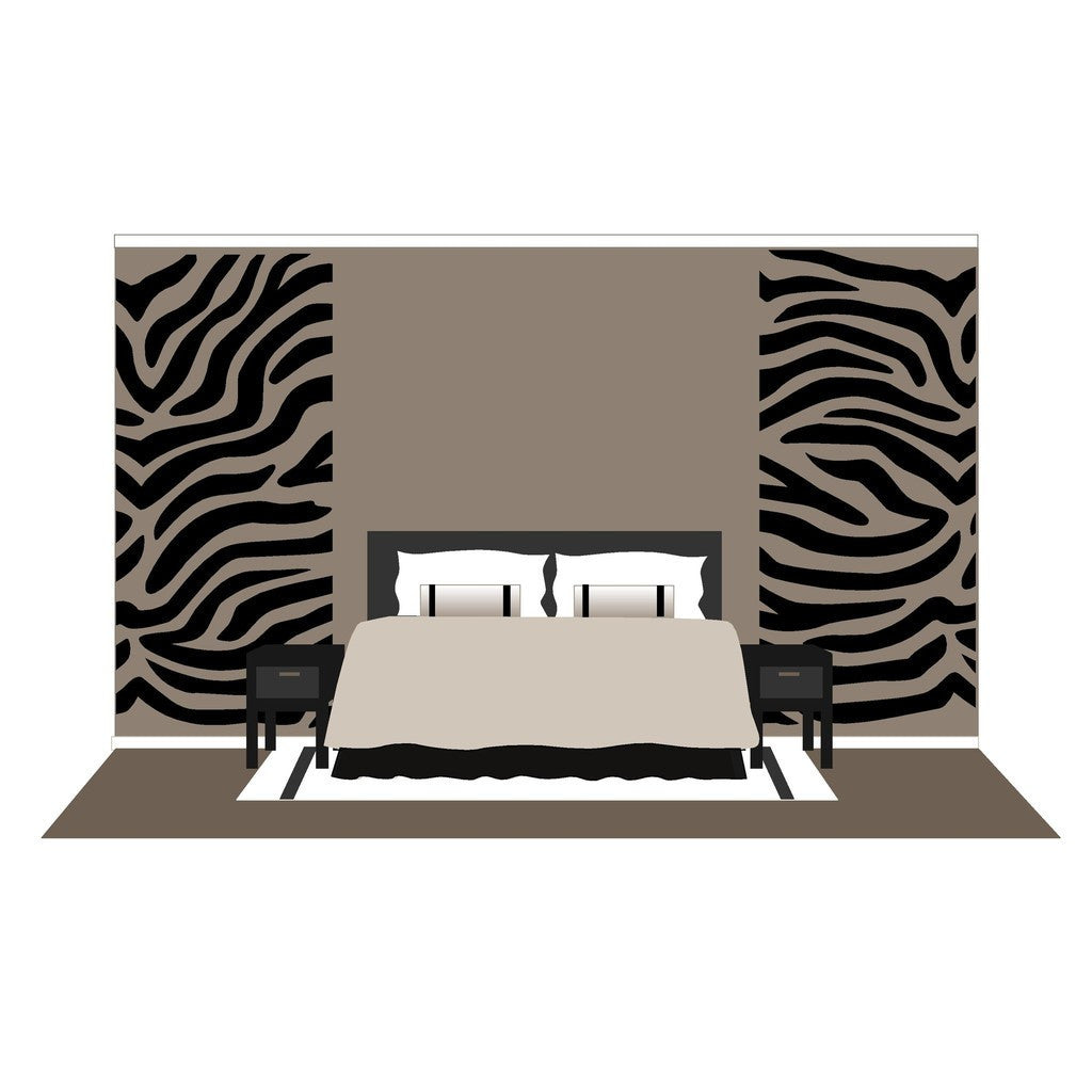 Zebra Stripes, a DIY Paint by Number Wall Mural by Elephants on the Wall - Seasonal Expressions - 3