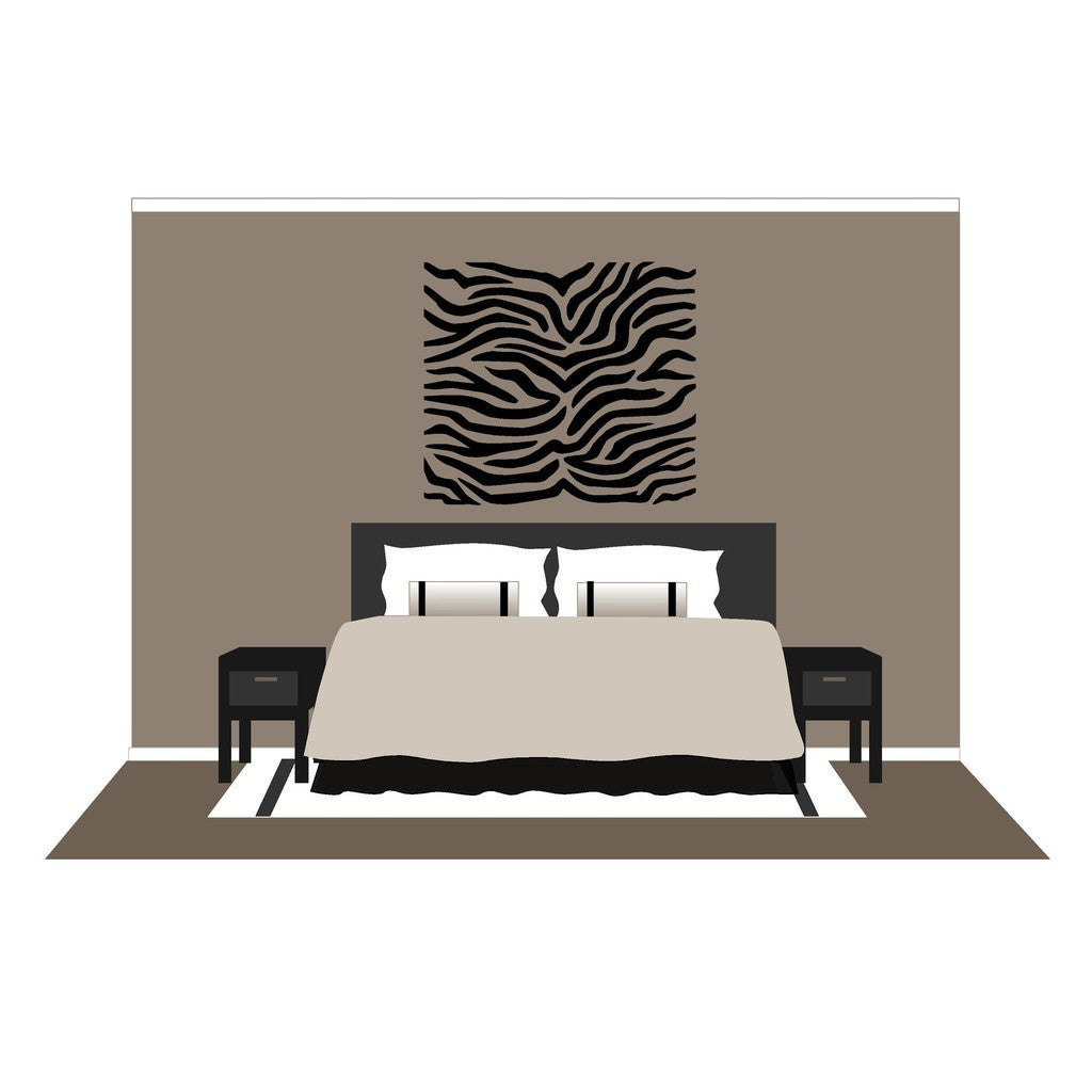Zebra Stripes, a DIY Paint by Number Wall Mural by Elephants on the Wall - Seasonal Expressions - 4