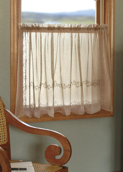 Curtain-Tier-Choice-Size-Color-Heritage Lace-Sheer Divine