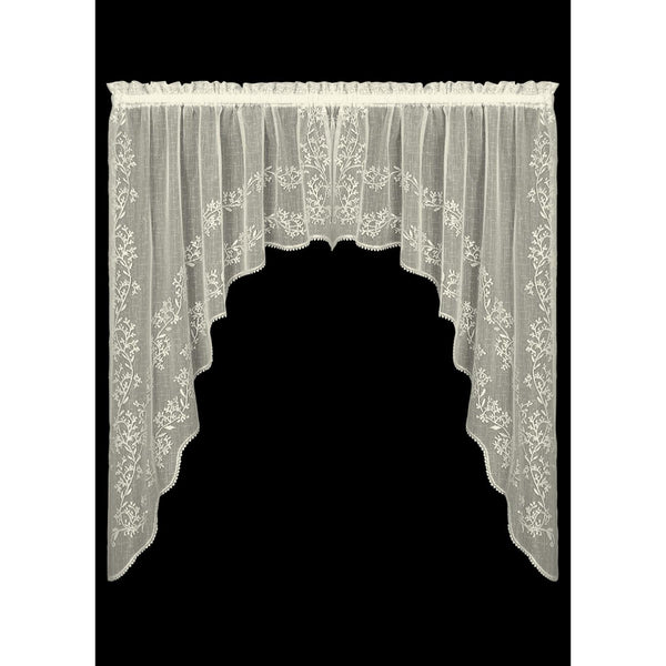 Curtain-Swag-Pair-2 Sizes-Heritage Lace-Sheer Divine