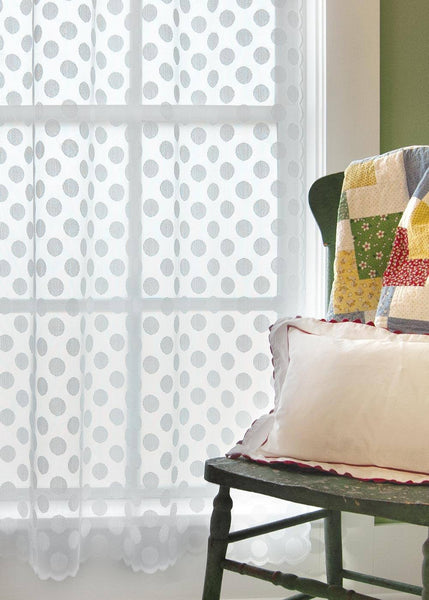 Polka Dot, Set of 2 Beautiful Window Panels from Heritage Lace - Seasonal Expressions - 1