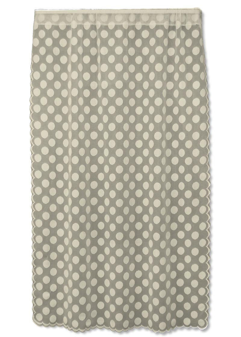 Curtain Panel-Heritage Lace-Polka Dot