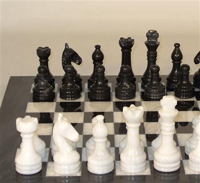 Chess Set-Black and White- Marble