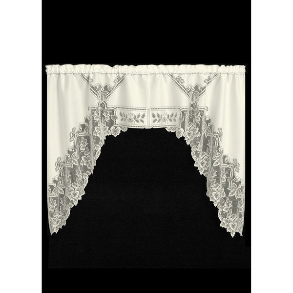 "Set of 2 Pairs 70"" x 45"" Heirloom Swags from Heritage Lace - Seasonal Expressions - 1"