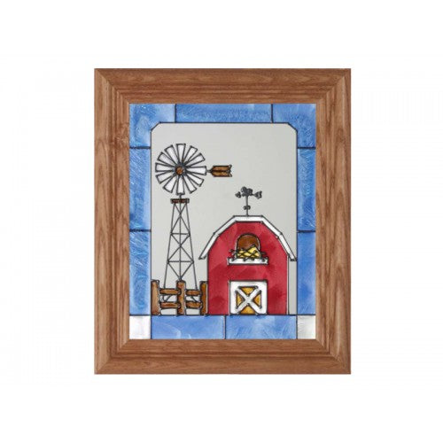 Art Glass Panel-The Farm-Country Life-Made in USA