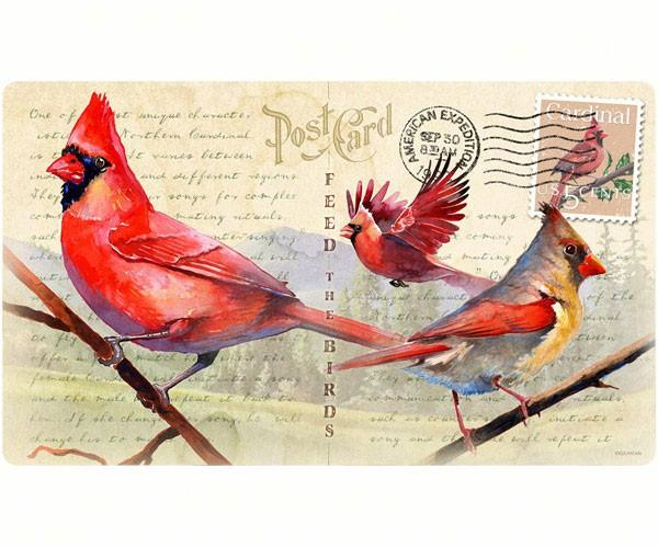 Cardinal Postcard-Tempered Glass-Cutting Board-Functional and Beautiful