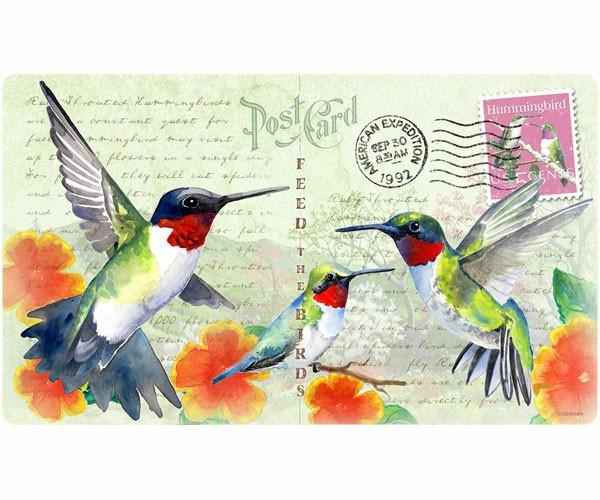 Hummingbird Postcard-Tempered Glass-Cutting Board-Functional and Beautiful