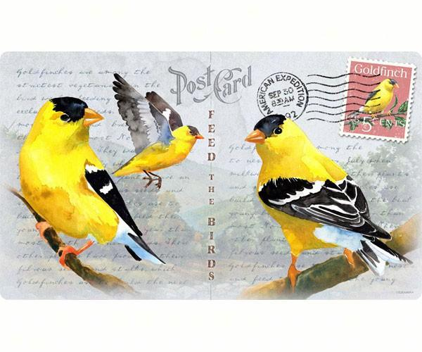 Goldfinch Postcard-Tempered Glass-Cutting Board-Functional and Beautiful