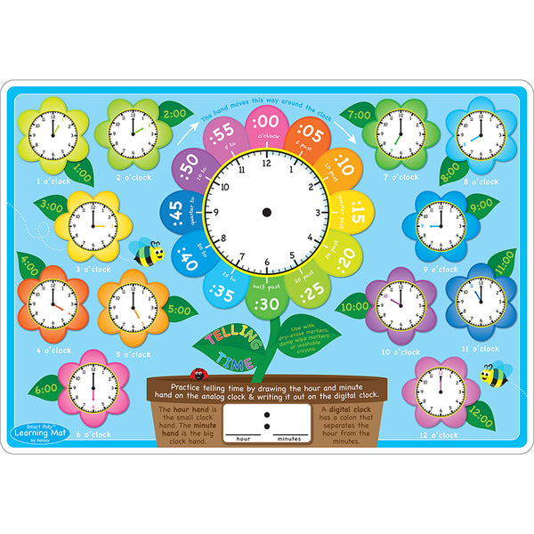 Educational-Early Learning-Bulletin Board Chart-Telling Time