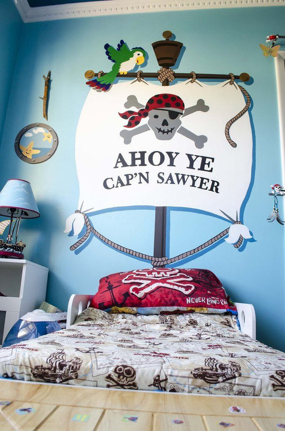 Ahoy Ye Matey DIY Paint by Number Wall Mural Bedhugger by Elephants on the Wall - Seasonal Expressions - 2
