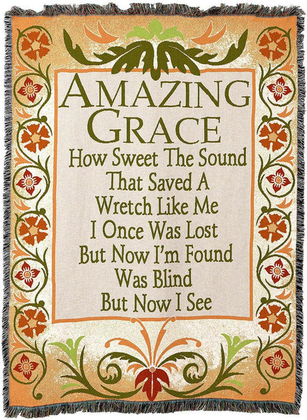 Christian Decor-Throw Blanket-54 x 72-Amazing Grace