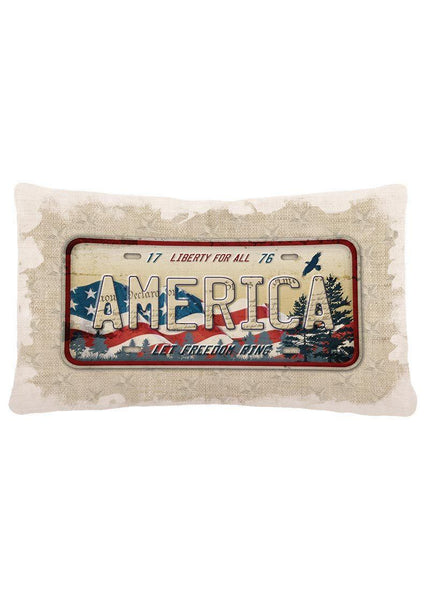 Throw Pillow-12x20- American Spirit-Heritage Lace-Americana