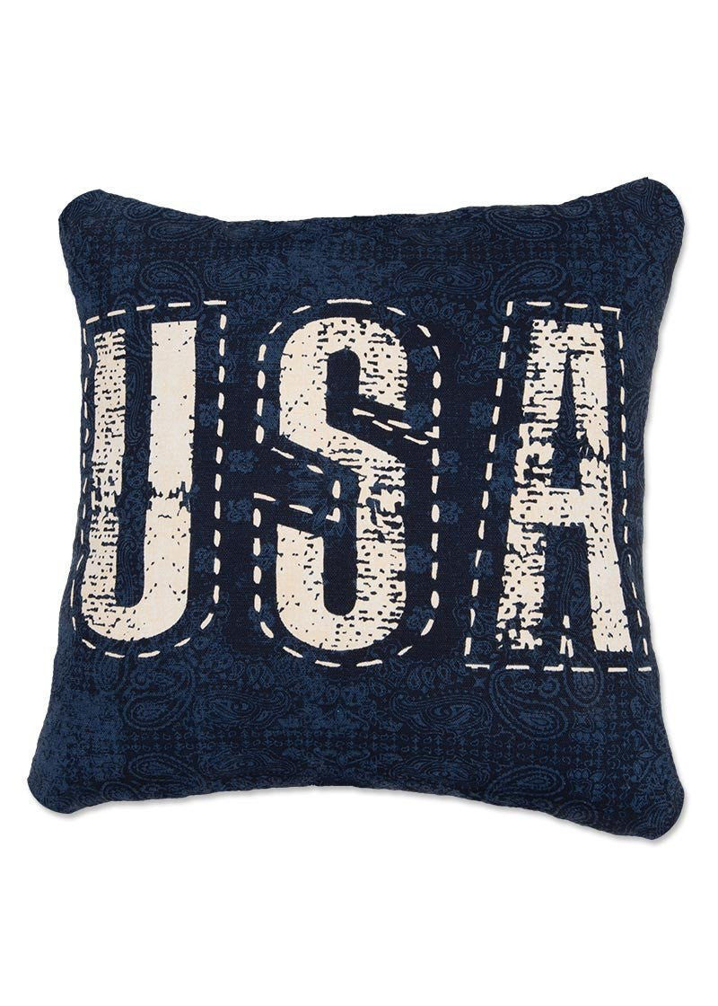 Throw Pillow-16 x 16-Americana-Heritage Lace-American Spirit-USA