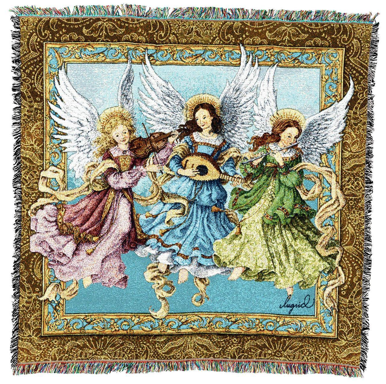 Christian Decor-Choice-Tapestry-Wall Hanging-Throw-Angelic Trio