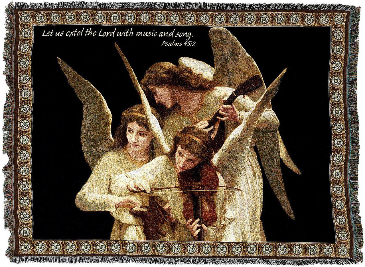 Christian Decor-Throw Blanket-54 x 72-Angels-Violins