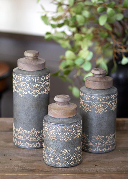 Canister Set-3 Piece-Heritage Lace-Artisan Home
