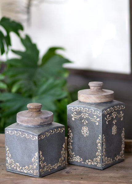Canister Set-2 Piece-Heritage Lace-Artisan Lace