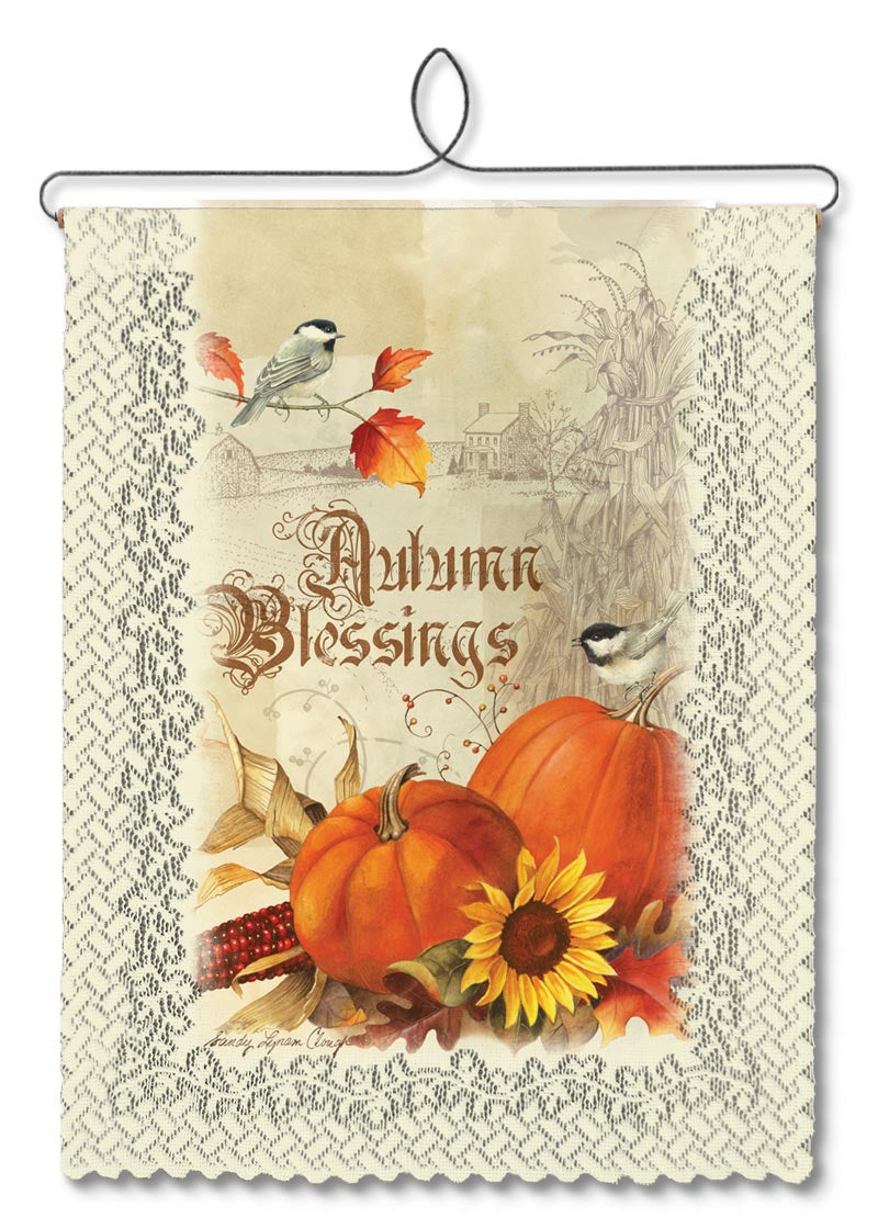 Wallhanging-Seasonal-Autumn Blessings-Heritage Lace
