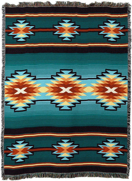 Throw Blanket-54 x 72-Matching-Throw Pillow-Southwest-Aydin's Blanket