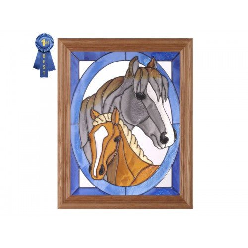 Art Glass Panel-Horse-Colt-Country Life-Made in USA