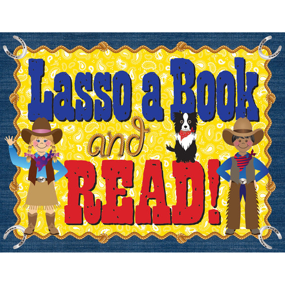 Bulletin Board Chart-Educational-Language Arts-Lasso a Book-Read