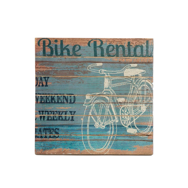 Beach Living-14 x 14- Wood Sign-Heritage Lace