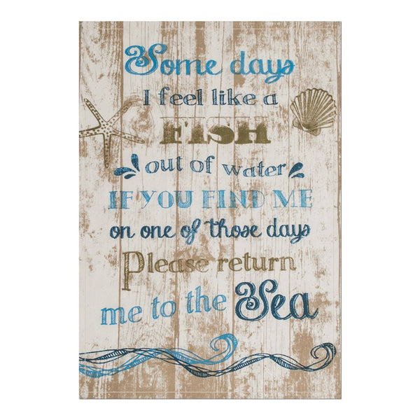 Tea Towels-Set of 2 -Beach Living-Return Me-18 x 26- Heritage Lace