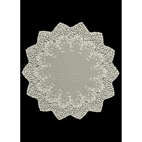 "Blossom 42"" Table Topper in Ecru Or White from Heritage Lace - Seasonal Expressions"