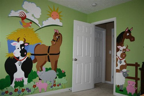 Barnyard Friends Wall Mural by Elephants on the Wall - Expressions of Home
