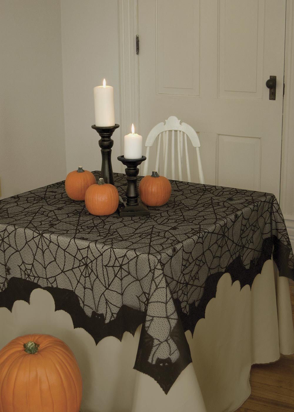 Halloween-Table Topper-Tablecloth-Seasonal Decor-58 x 58-Bats