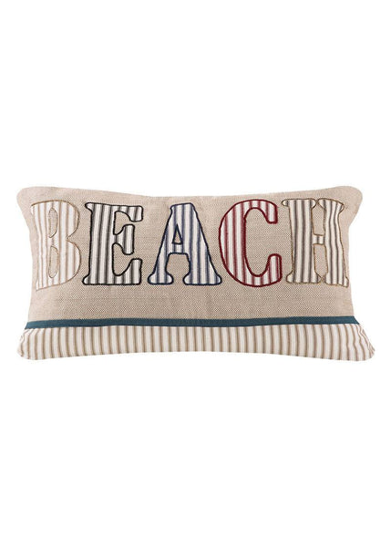 Throw Pillow-Beach Living-12 x 20-Heritage Lace