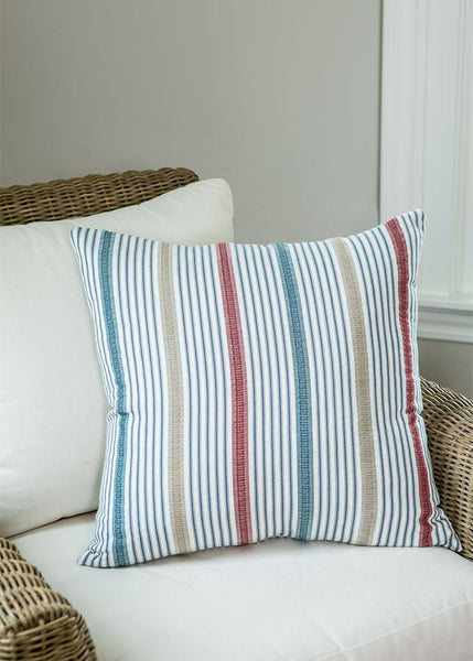 Throw Pillow-Beach Living- 22 x 22-Stripe Pillow-Heritage Lace