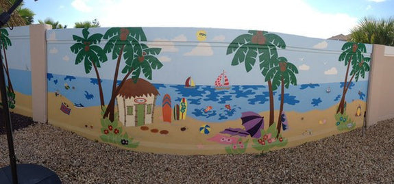 Beach Scene, a DIY Paint by Number Wall Mural by Elephants on the Wall - Seasonal Expressions - 7