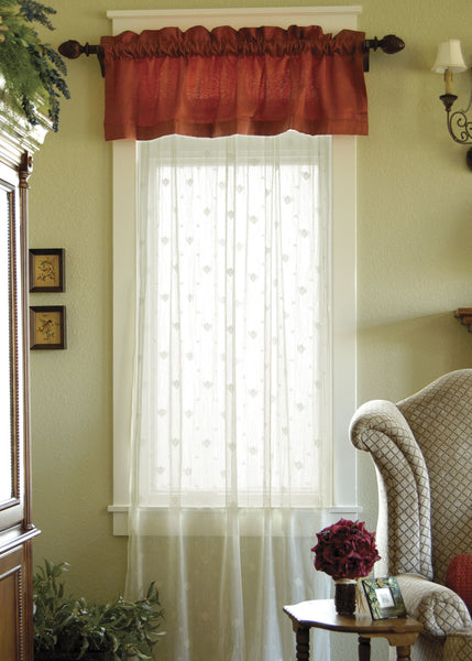 Curtain Panel-Choice-Color-Size-Trim-Heritage Lace-Bee