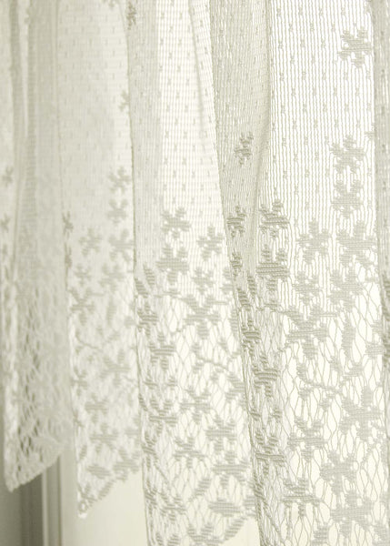 Curtain-Valance-42x15-Heritage Lace-Ecru Or White-Blossom