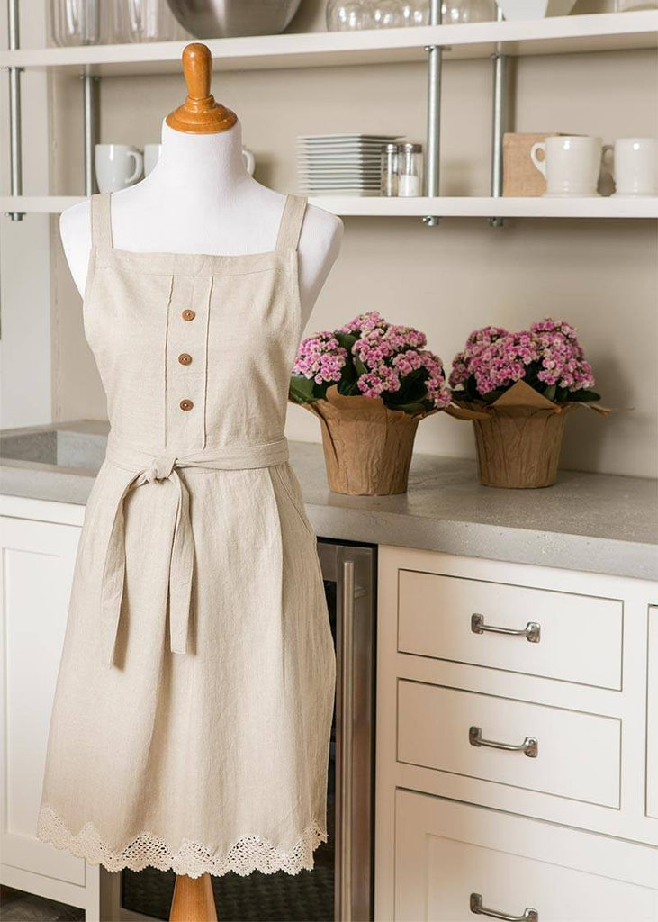 Apron-Blue Ribbon-Heritage Lace