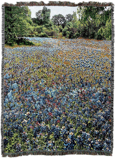 Throw Blanket-54 x 72-Texas Bluebonnets
