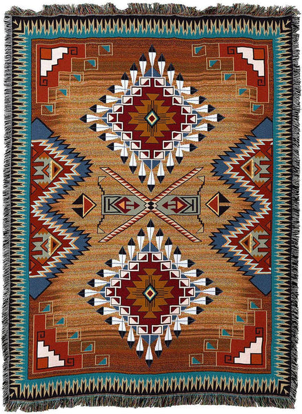 Throw Blanket-54 x 72-Matching-Throw Pillow-Southwest-Brazo's Blanket