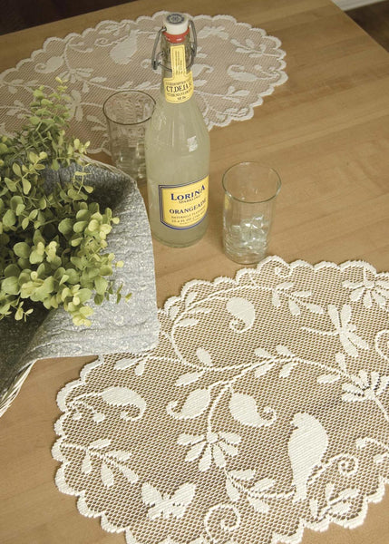 "Table Linen-Placemats-Bristol Garden-Set of 6-14"" x 20""-Heritage Lace"