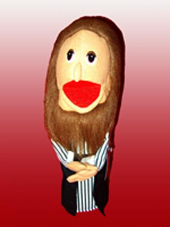 Puppet Ministry-Brown Beard Man-16 inch Puppet-Bible Time Collection