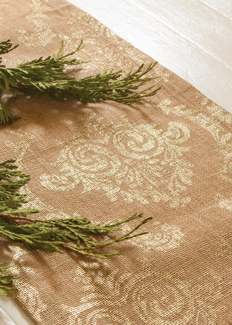 Table Linen-Runner-Dresser Scarf-Burlap Damask-Heritage Lace