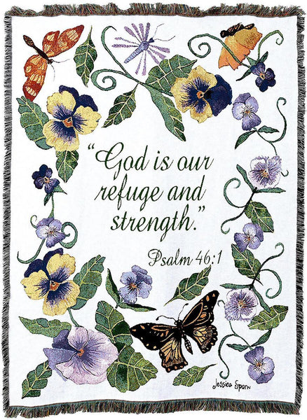 Christian Decor-Throw Blanket-54 x 72-Butterflies-Psalm