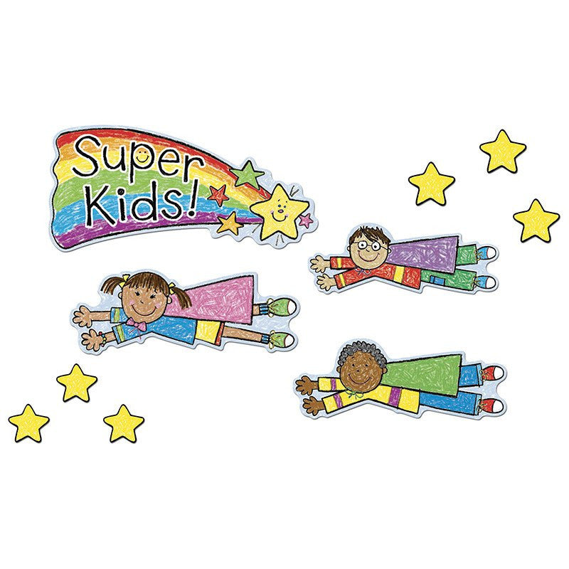 Bulletin Board Set, Super Kids Job Assignment, Kid Drawn - Seasonal Expressions