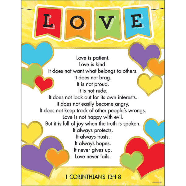 Bulletin Board Chart-Christian-Love Verses