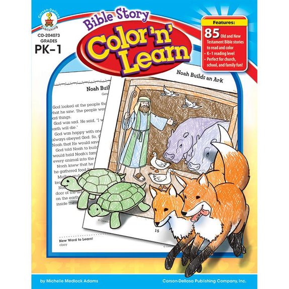 Christian Children-Bible Story Color and Learn