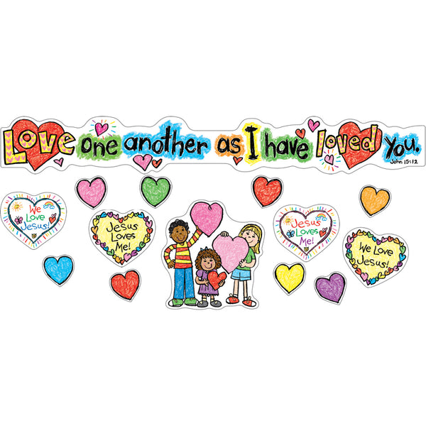 Christian Children-Love One Another-Bulletin Board Charts